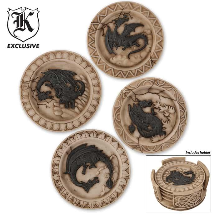 Dragon Coaster (Base with 4 Coasters)