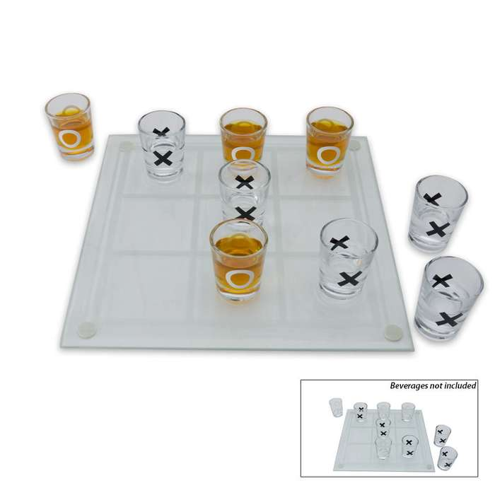 Shot Glass Tic-Tac-Toe Drinking Game Set