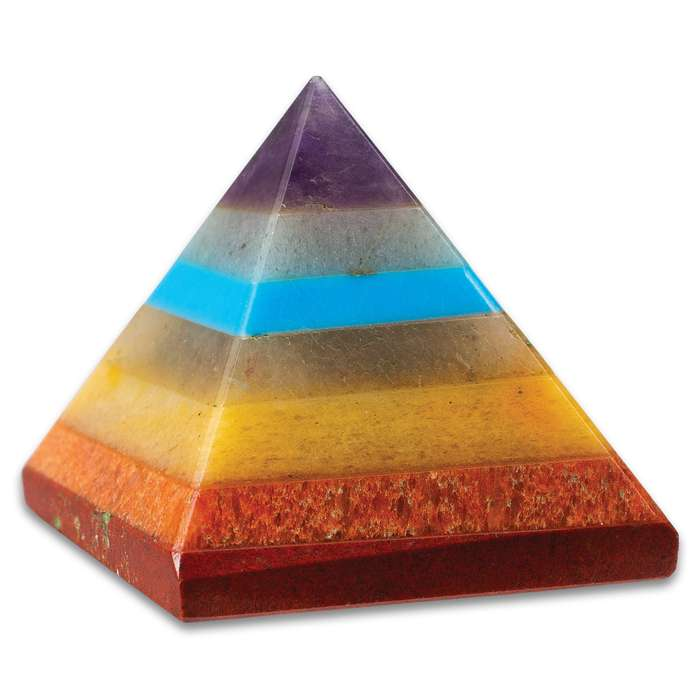 Chakra Bonded Pyramid With Turquoise - Crafted Of Genuine Healing Stones, Adds Beauty And Balance, Encourages Better Health