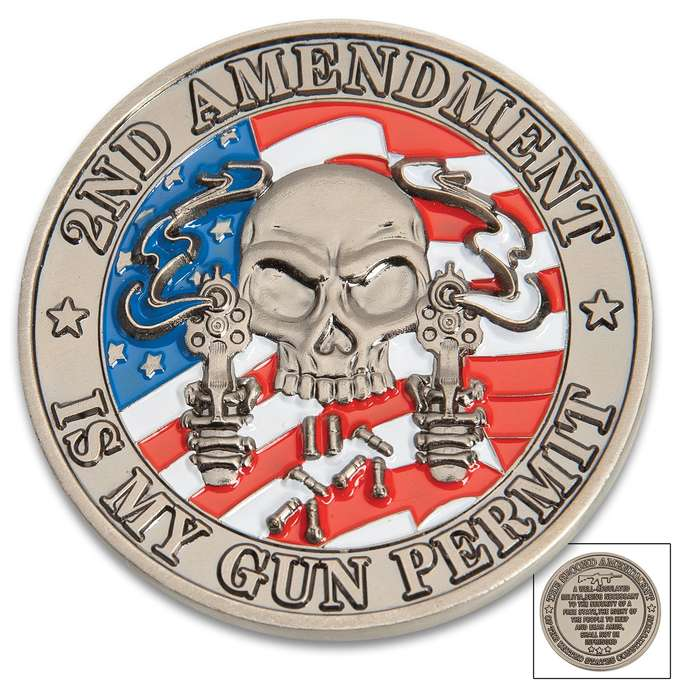 This gift-worthy, collectible challenge coin is the perfect everyday carry as a reminder of the Second Amendment