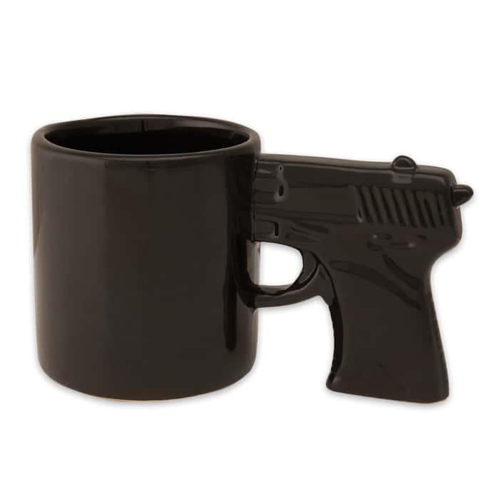 Pistol Grip Coffee Mug Black