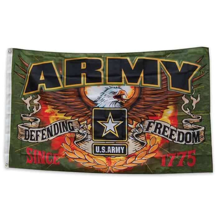 Army Defending Freedom Flag