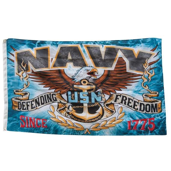 Navy Defending Freedom Flag