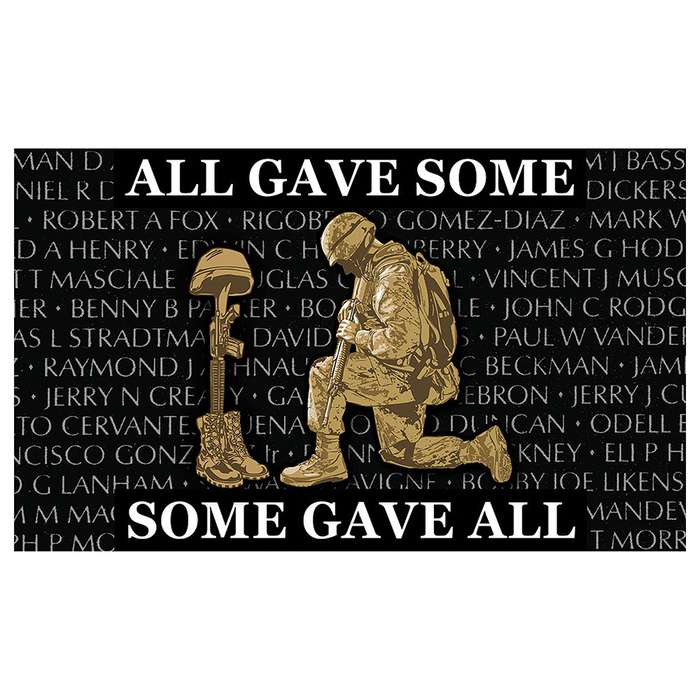 """All Gave Some, Some Gave All"" Military Tribute Flag - 3' x 5'"