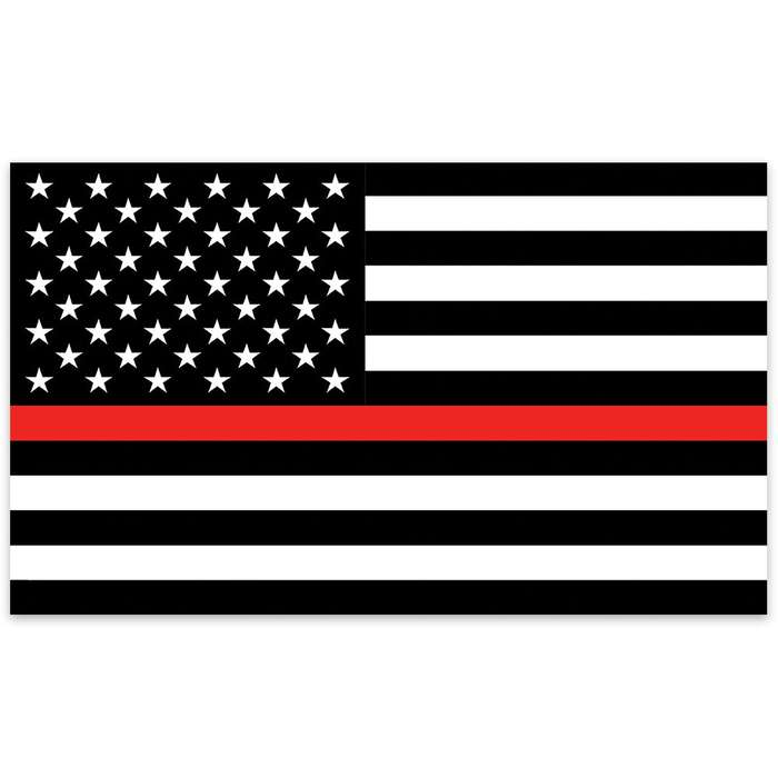 Firefighter Tribute American Flag - Black and White US Flag with Single Red Stripe - 3' x 5'