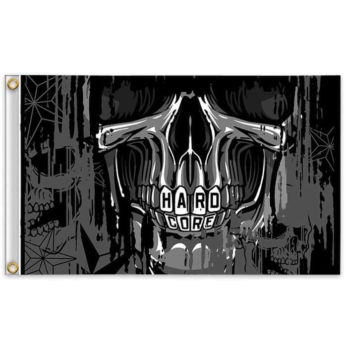 Hard Core Skull Flag