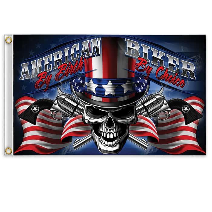 American Biker Flag