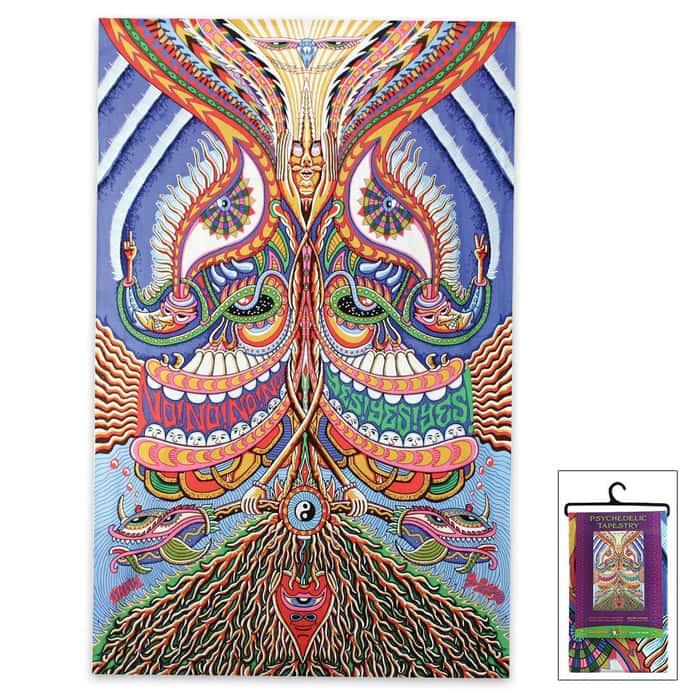 """Meditation 3D Tapestry - 60""""x90"""""""