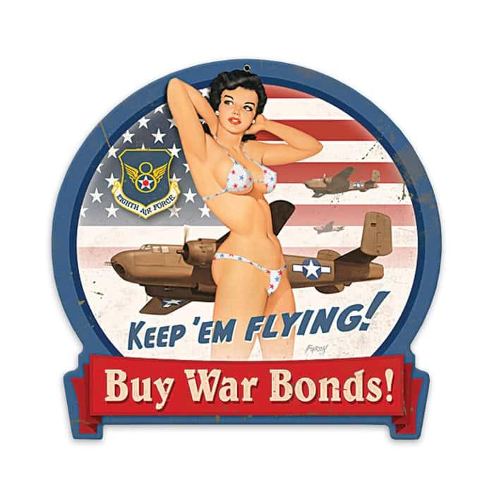 Keep Em Flying Steel Sign