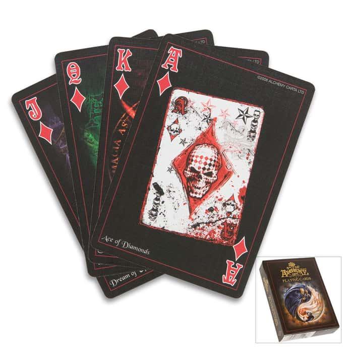 Alchemy Black Playing Card Deck