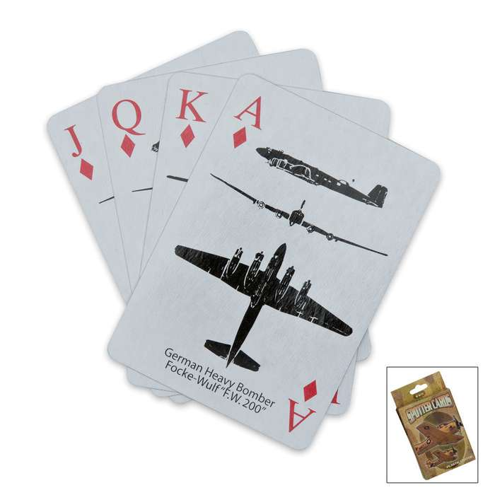 WWII Airplane Spotter Playing Flash Cards