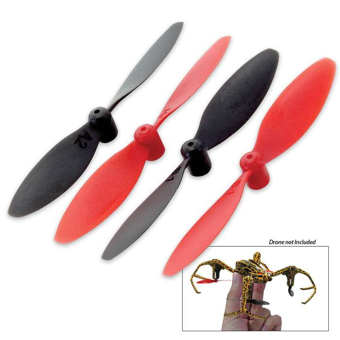 Spider Stunt Quadcopter Replacement Blades - 4 Pack