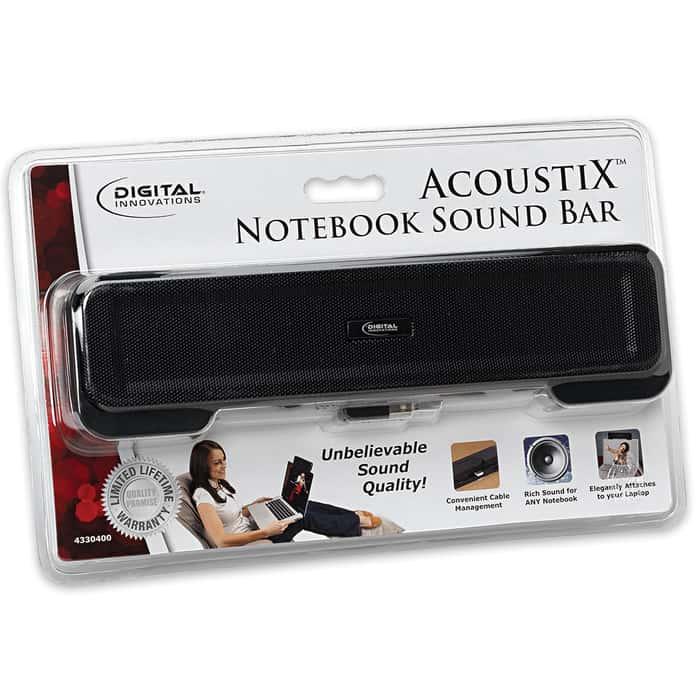 AcoustiX Notebook Sound Bar For Laptops