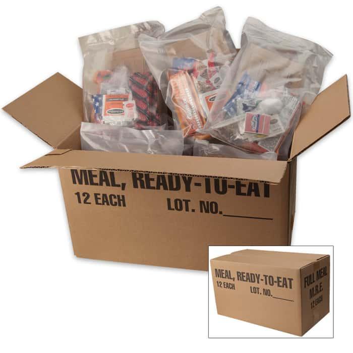 MREs W/O Heater 12 Meals