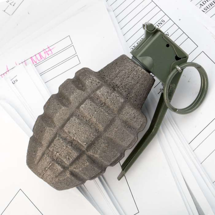 Inert Pineapple Grenade Replica  Paperweight
