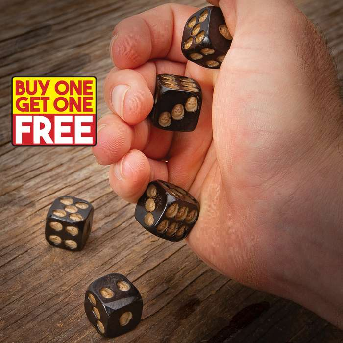 We got these fiendish Black Skulls Gaming Dice Set straight out of the Grim Reaper's game room and you are getting two sets with BOGO