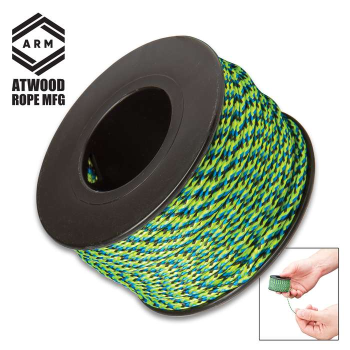 All-Purpose Micro Cord - Polyester And Nylon Construction, Rot Resistant, 100-lb Test Strength - 125'