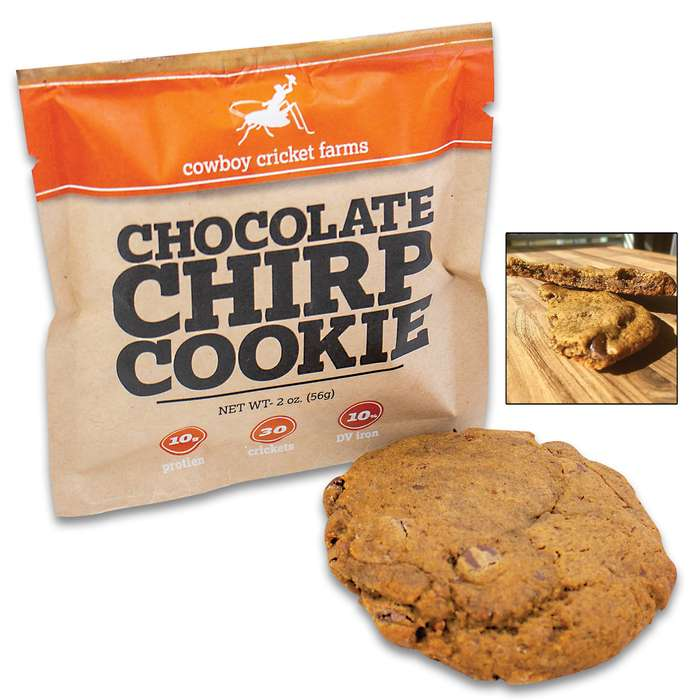 Chocolate Chirp Cookie - Made With Cricket Powder, 10 Grams Of Protein, Handmade In The USA - 2 Oz Cookie
