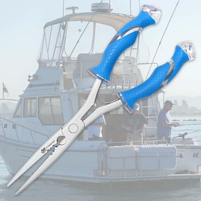 """Cuda 10 1/4"""" Titanium-Bonded Needle Nose Pliers"""