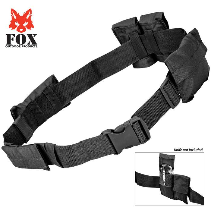Fox Outdoor Products SWAT Belt with Removable / Interchangeable Pockets