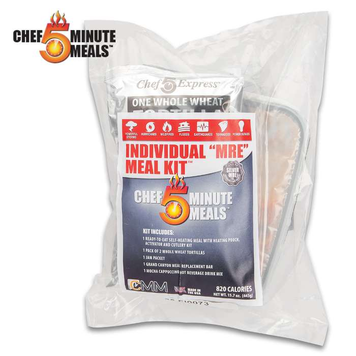 The Individual MRE Chicken Cacciatore Meat Balls Meal Kit is a nutritious option to take with you when you're hiking or camping