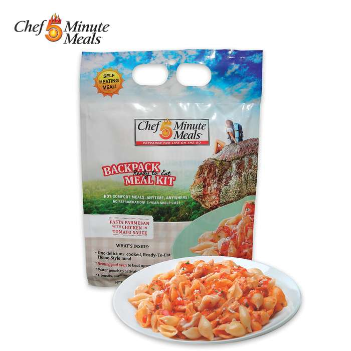 Self-Heating 5-Minute Backpack Meal Kit - Pasta Parmesan With Chicken