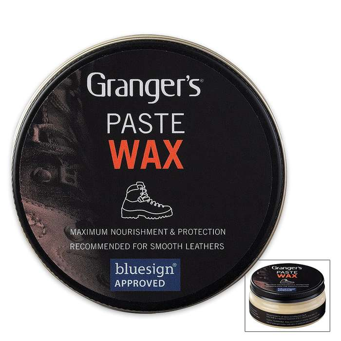 Granger's Paste Wax for Leather Footwear - 3.4-oz Can