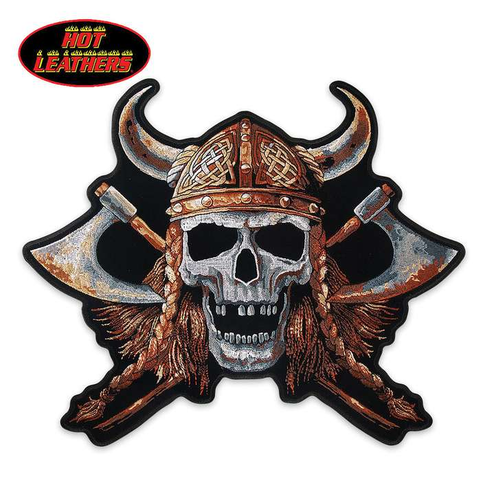 Hot Leathers Viking Skull Patch