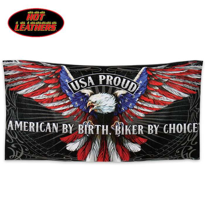 USA Proud Patriot Eagle Vivid Beach Towel