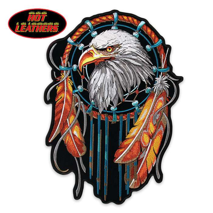 Hot Leathers Eagle Dream Catcher Patch