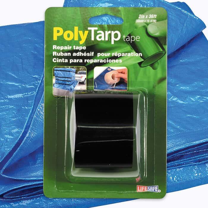 """Black Poly Tarp Repair Tape - 2"""" x 36'"""