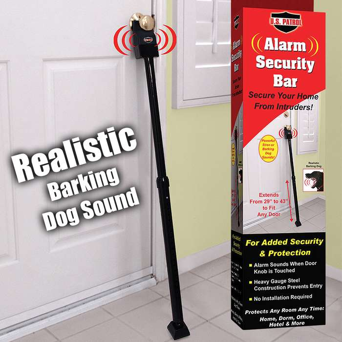 Ideaworks Alarm Security Bar - Fits Any Door