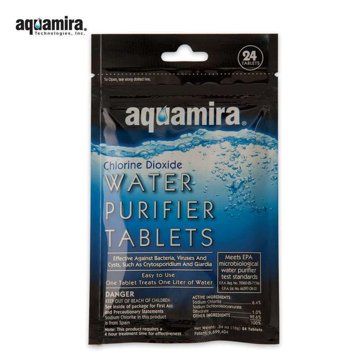 Aquamira Water Purifier Tablets 24 Pack