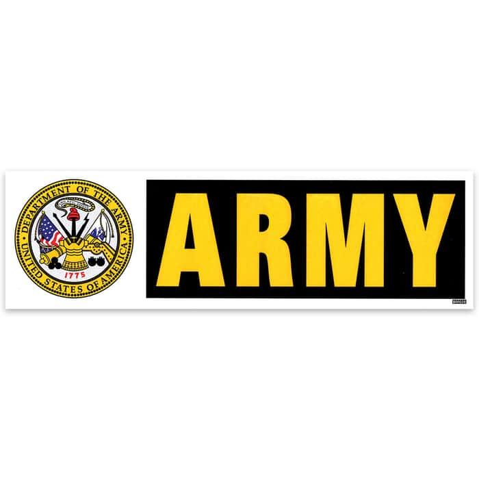 Army 3x10 Bumper Sticker