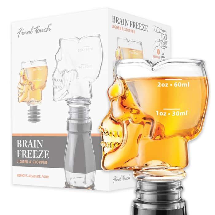 Brain Freeze Skull - Jigger-Stopper