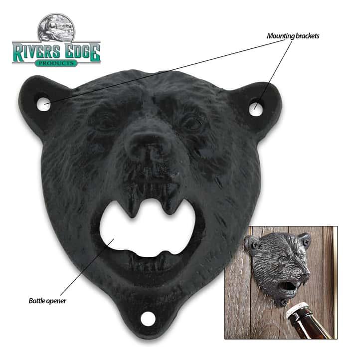 Bear Head Cast Iron Bottle Opener