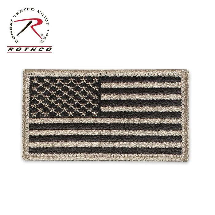 Flag Patch with Hook & Loop Khaki/Black