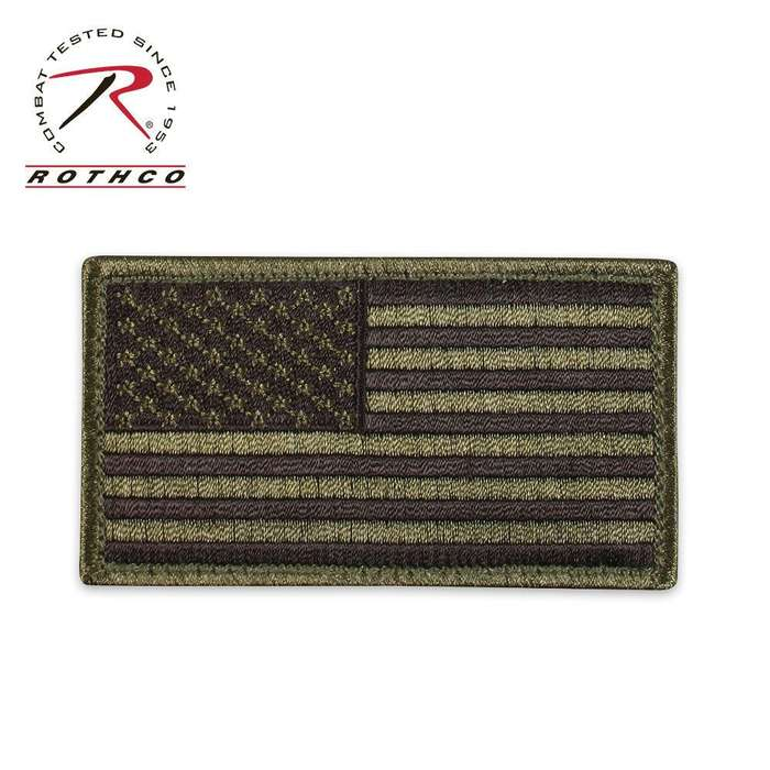 Flag Patch with Hook & Loop  Black/OD