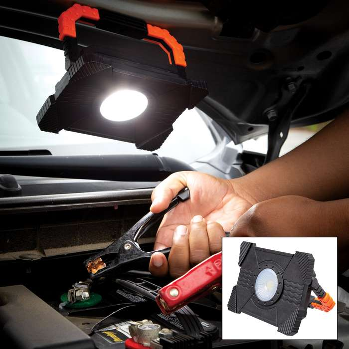 "750-Lumen High-Powered COB LED Work Light - Energy Efficient, Kickstand Handle, Rare Earth Magnets - Dimensions 6""x 4 1/4"""