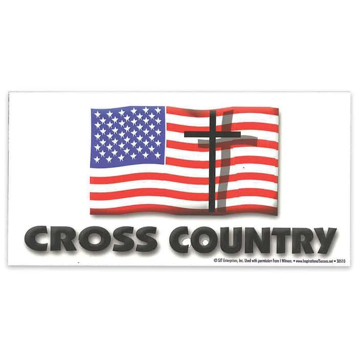 """Cross Country"" 4"" x 8"" Waterproof Car Magnet"