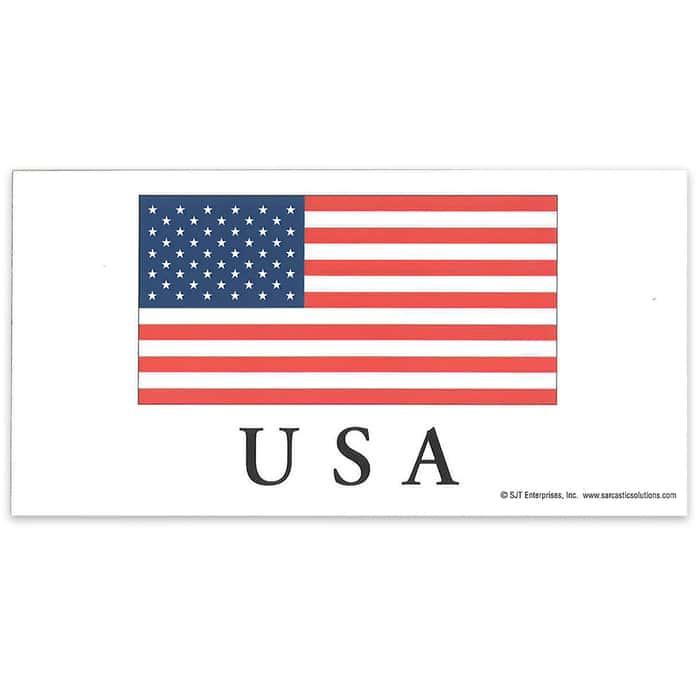 """American / US Flag 4"""" x 8"""" Waterproof Car Magnet"""