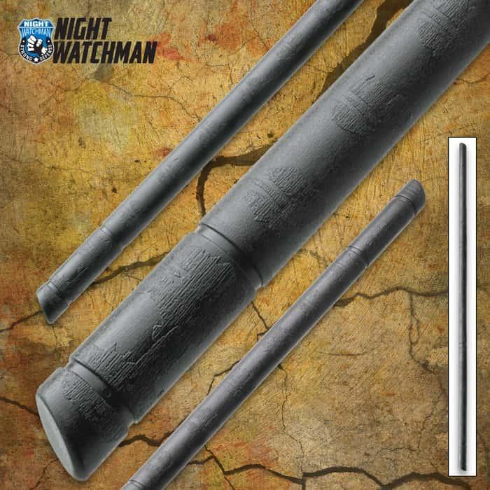 Night Watchman Jo Staff - Polypropylene Construction, Training Tool, Perfect Balance And Weight - Length 4'