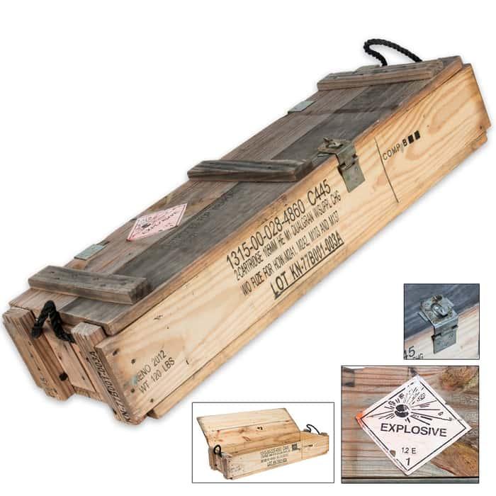 105mm Wooden Ammo Box