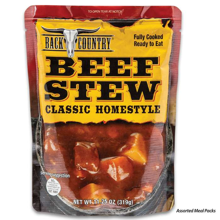 Assorted Back Country Food - 11.25 Oz Single-Serving Entree, Ready-To-Eat, No Cooking Required, Shelf-Stable, No Refrigeration