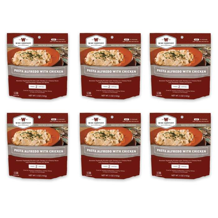 Camping Pouches Chicken Alfredo 6 Pack