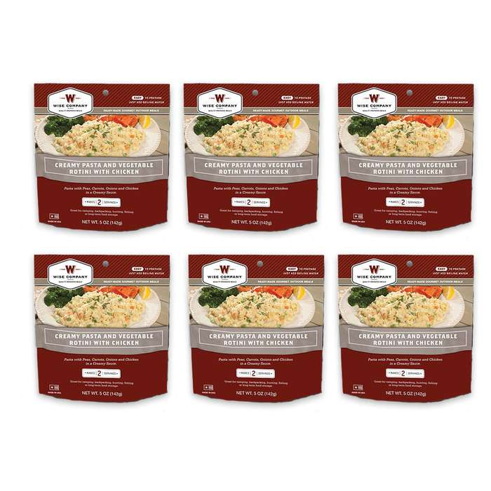 Camping Pouches Chicken W/ Pasta & Vegetables 6pak