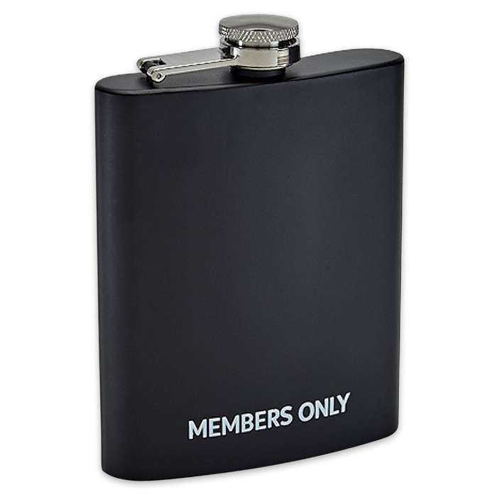 Members Only Rubber Coated Flask