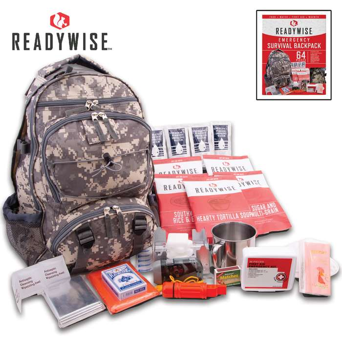 ReadyWise Company 5-Day Emergency Survival Kit - ACU Camo Backpack