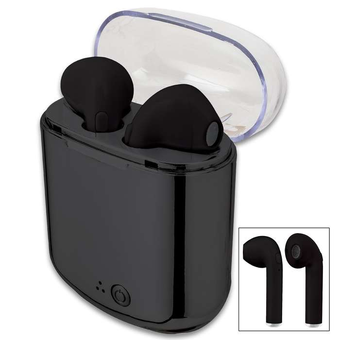 ZTech Wireless Earbuds With Charging Case - Dual Bluetooth, Lightweight And Ergonomic, Built-In Mic, Hands-free Calling