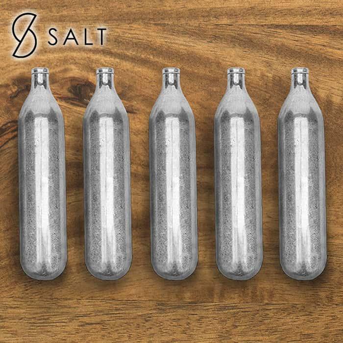 5-Pack Of CO2 Cartridges - For SALT Self Defense Pepper Spray Gun
